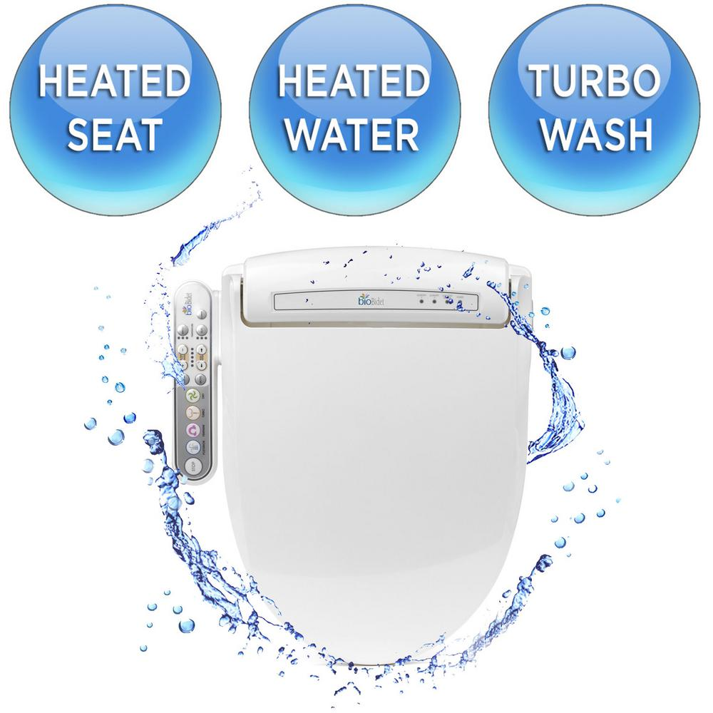 bioBidet Prestige Electric Bidet Seat for Elongated Toilets in White