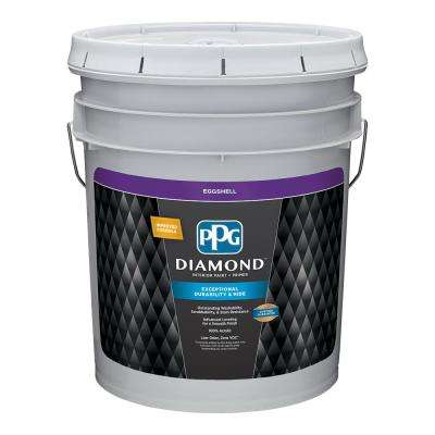 5 gal. Pure White Eggshell Interior Paint and Primer