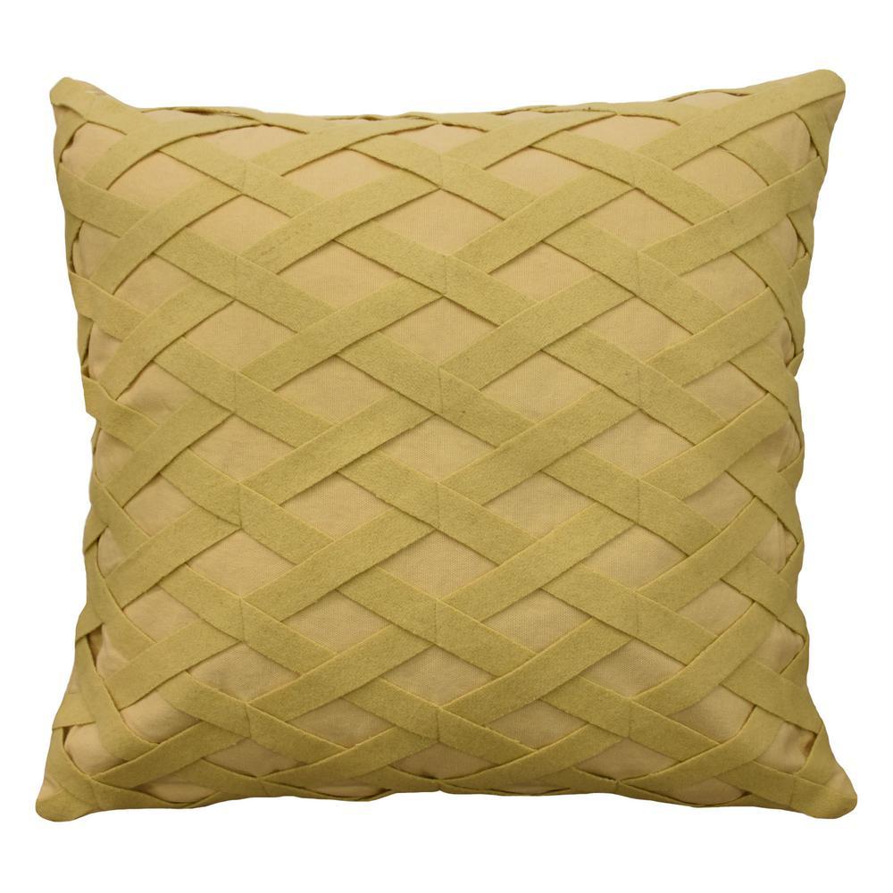 Sanctuary Rose Cotton Square Heritage Blue Decorative Standard Pillow