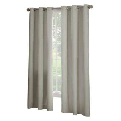 Semi-Opaque Linen Microfiber Grommet Curtain - 63 in. L x 42 in. W (1 Panel)