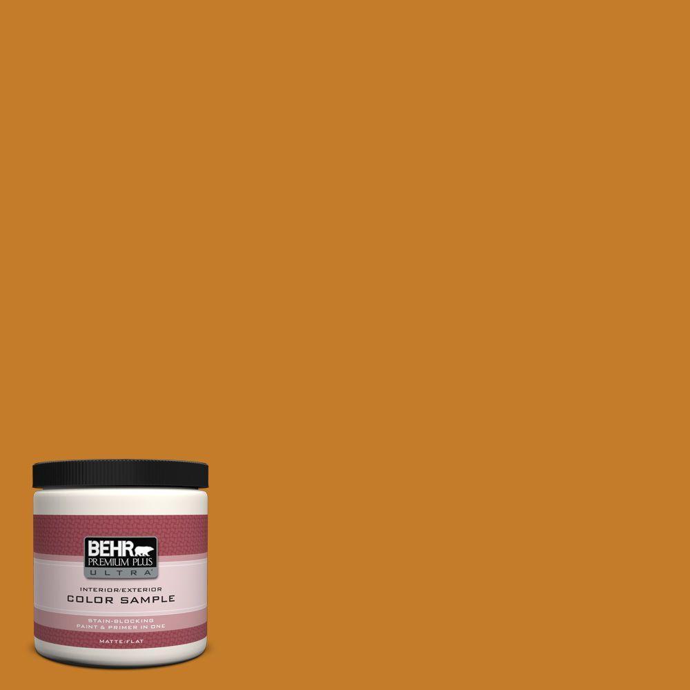 BEHR Premium Plus Ultra 8 oz. #S-H-290 Exotic Honey Interior/Exterior Paint Sample