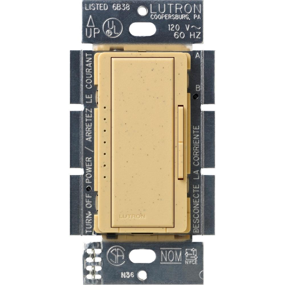 Maestro 600-Watt Multi-Location Electronic Low-Voltage Digital Dimmer, Goldstone