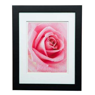 Gallery 8 in. x 10 in. Black Double Mat Picture Frame