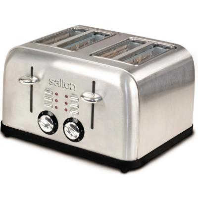 Salton-Electronic 4-Slice Stainless Steel Wide Slot Toaster