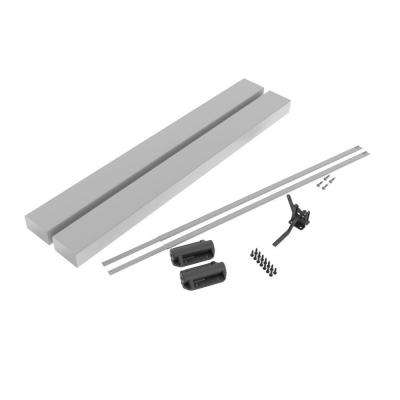 36 in. Vinyl White Rail Gate Kit