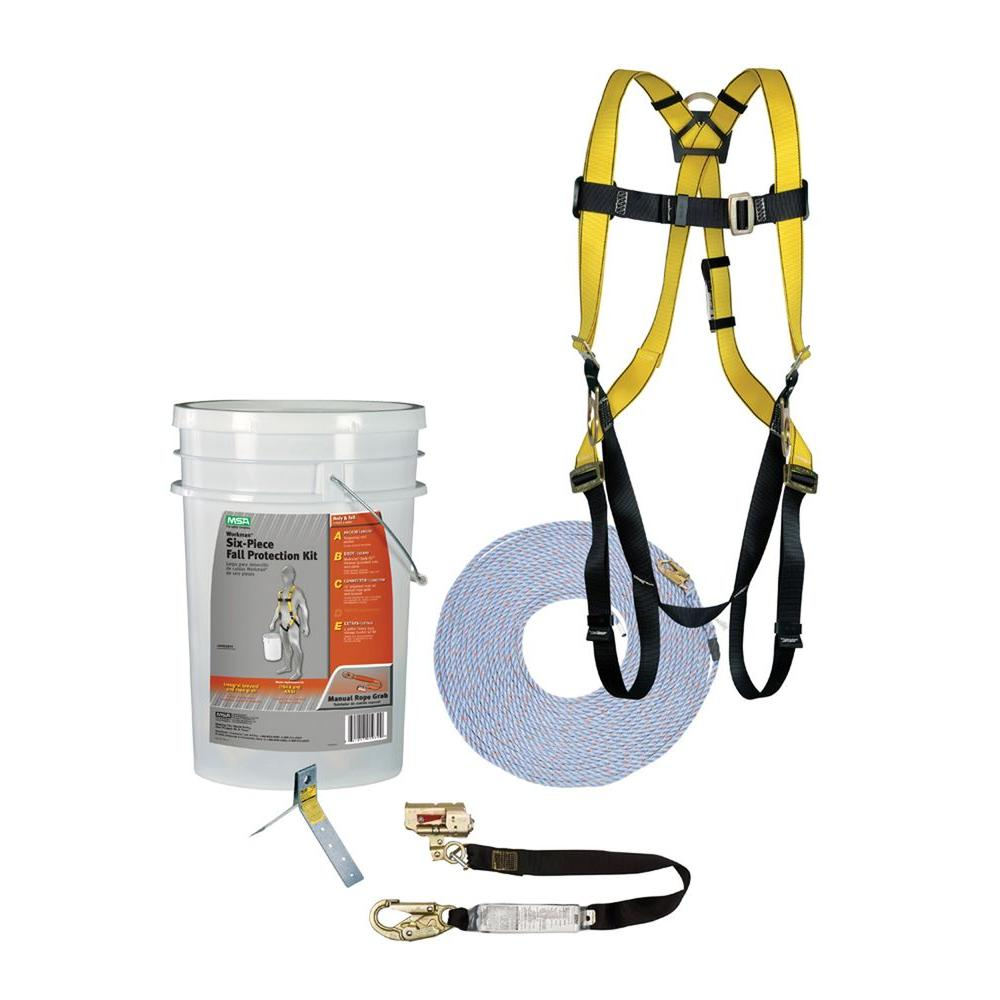 msa safety works workman 6 piece fall protection kit 10095901 themsa safety works workman 6 piece fall protection kit