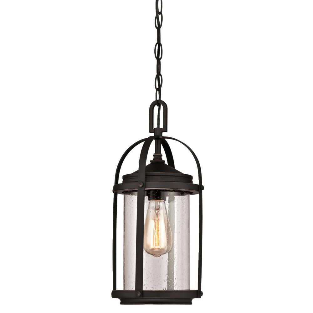 Westinghouse Grandview 1 Light Oil Rubbed Bronze With Highlights Outdoor Hanging Pendant