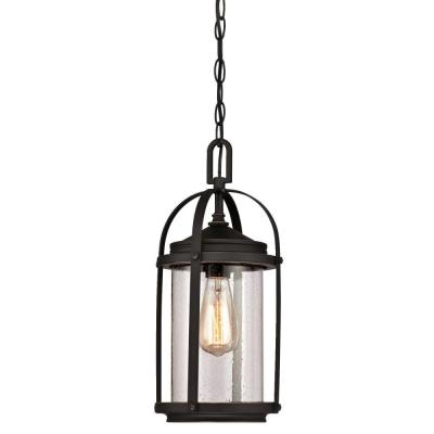 Grandview 1-Light Oil Rubbed Bronze with Highlights Outdoor Hanging Pendant