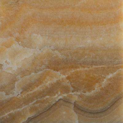 Honey 12 in. x 12 in. Polished Onyx Floor and Wall Tile (5 sq. ft. / case)
