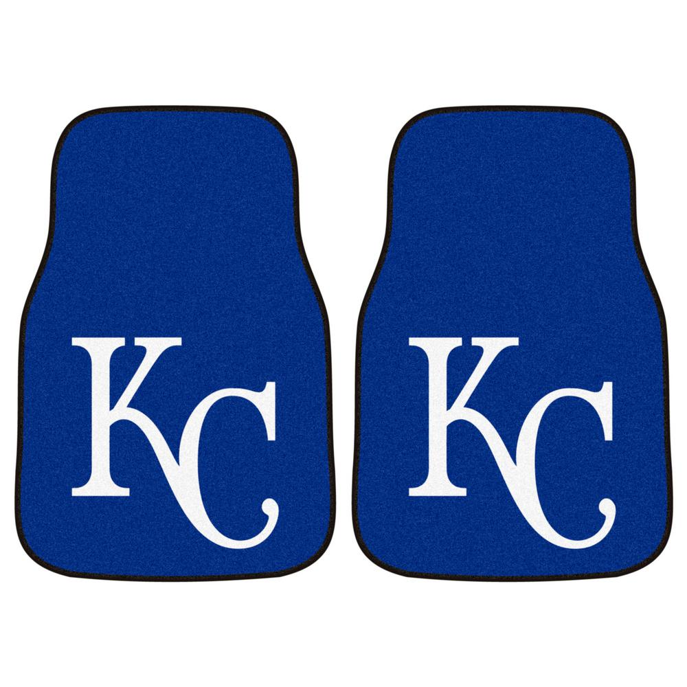 Kansas City Royals 18 in. x 27 in. 2-Piece Carpeted Car