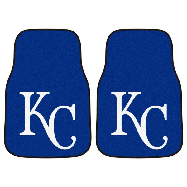 Kansas City Royals 18 in. x 27 in. 2-Piece Carpeted Car Mat Set