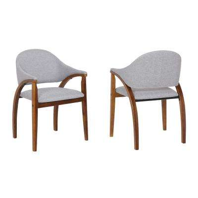 Meadow Grey Fabric Dining Chair (Set of 2)
