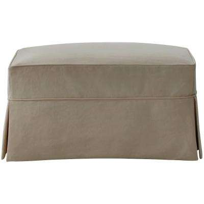 Mayfair Classic Smoke Slipcovered Ottoman