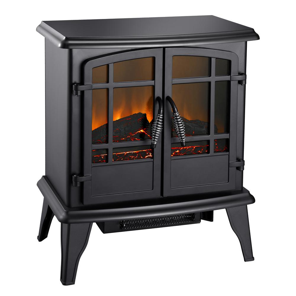 400 sq. ft. 20 in. Electric Stove in Matte Black