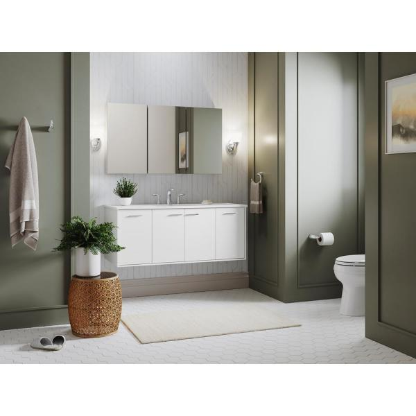 Kohler Clc 45 In W X 26 In H Recessed Or Surface Mount Medicine Cabinet In Adonized Aluminum K 99890 X3 45 The Home Depot