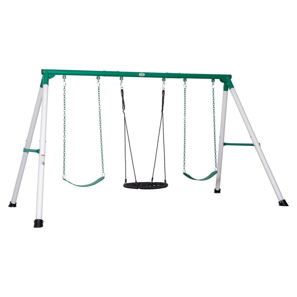 Little Brutus Heavy Duty Metal A-Frame Swing Set