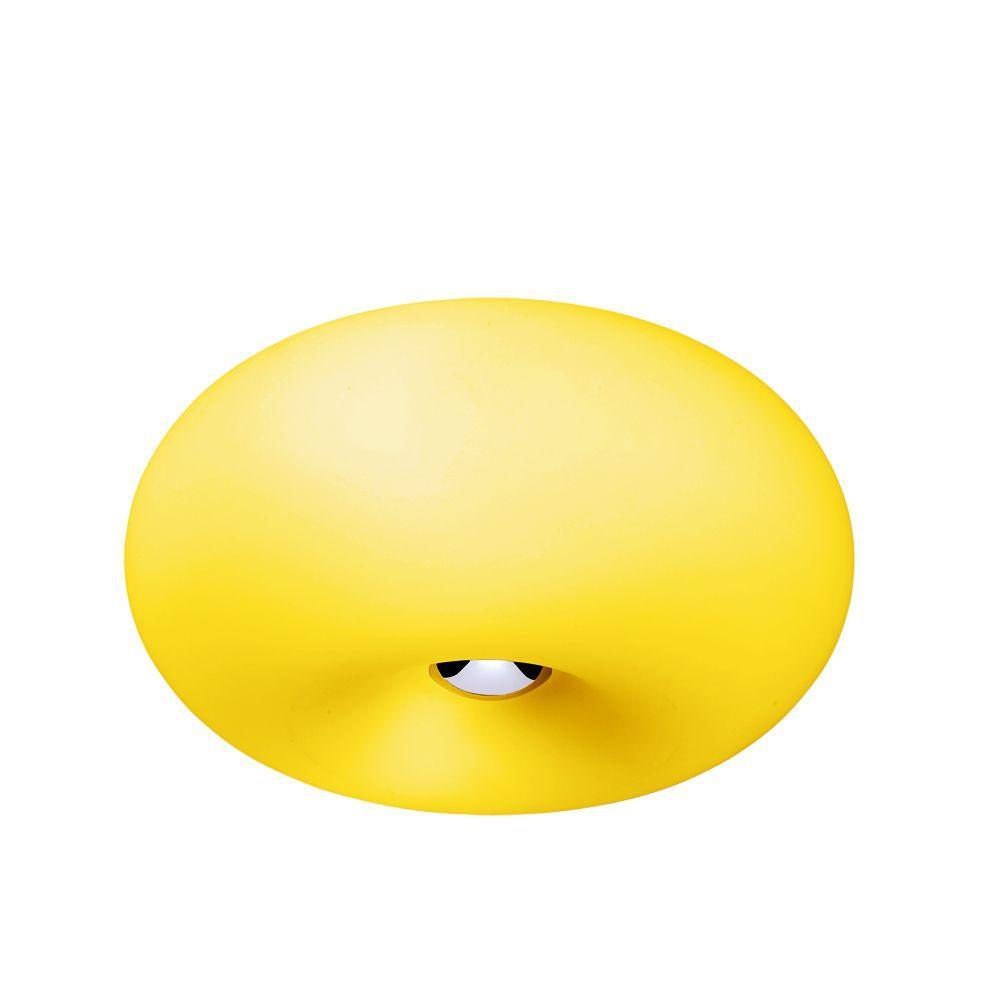 Eurofase Pop-2 Collection 3-Light Yellow Convertible Flushmount/Pendant