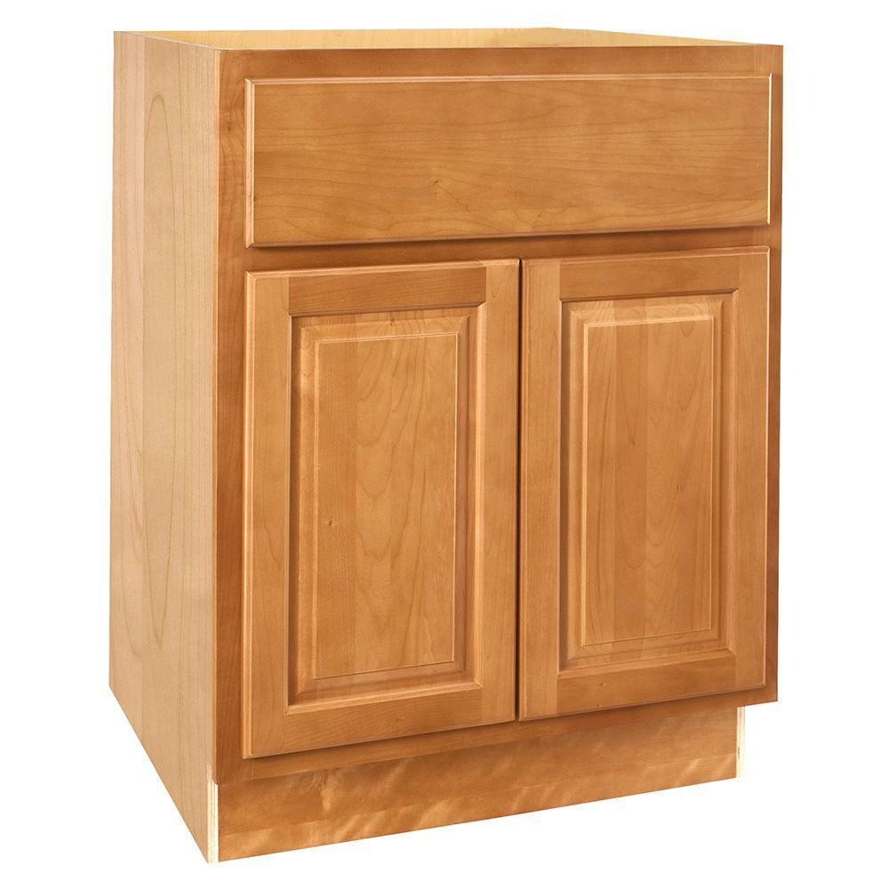 Home Decorators Collection Assembled 30x34.5x21 in. Vanity Sink Base Cabinet in Woodford Cinnamon