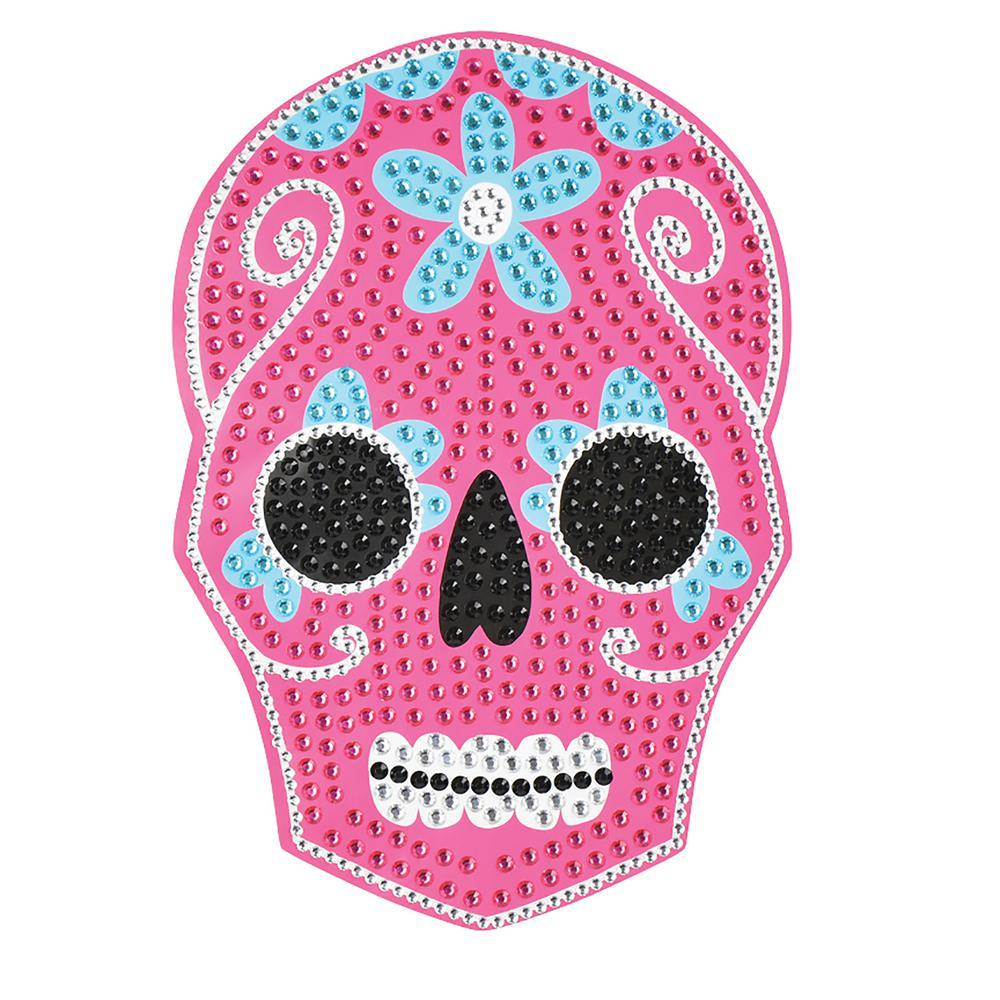 Pink Sugar Skull Bling Art Wall Decal (Set of 2)