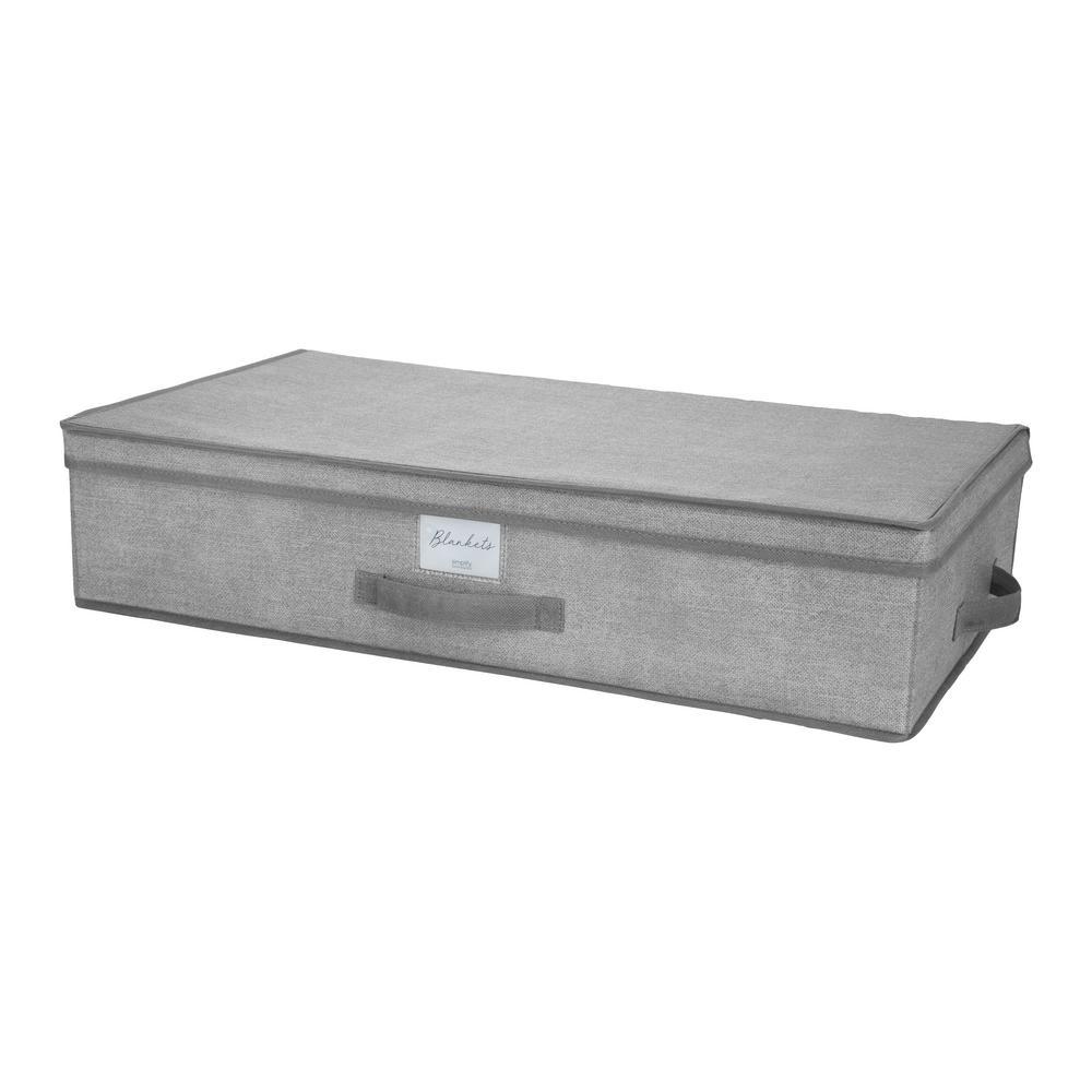 Under the Bed Storage Box in Heather Grey