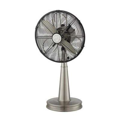 Zach 12 in. Indoor Portable Fan in Satin Nickel