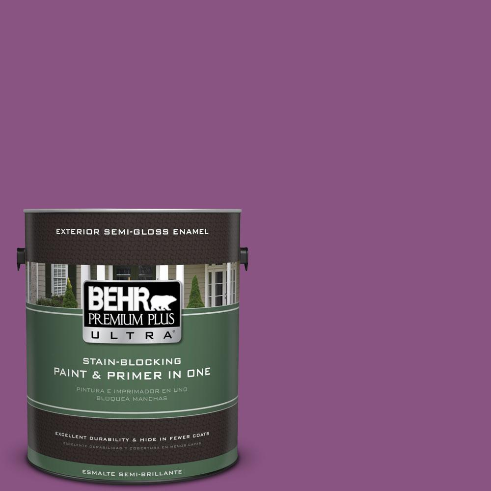 BEHR Premium Plus Ultra Home Decorators Collection 1-gal. #HDC-MD-07 Dynamic Magenta Semi-Gloss Enamel Exterior Paint