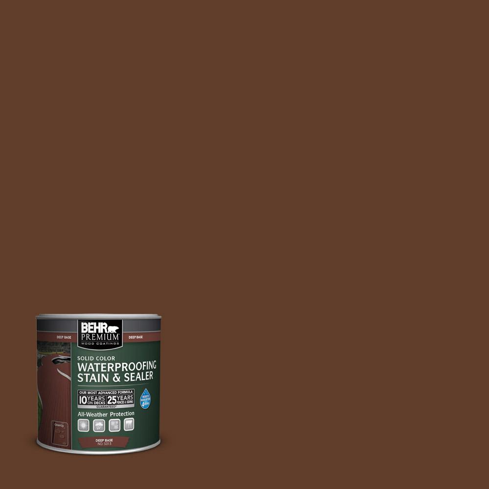 BEHR Premium 8 oz. #SC135 Sable Solid Color Waterproofing Stain and Sealer Sample