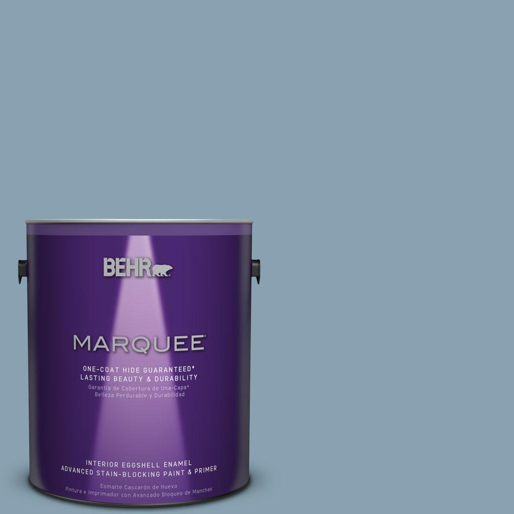 1 gal. #T14-14 Cloisonne Blue Eggshell Enamel Interior Paint