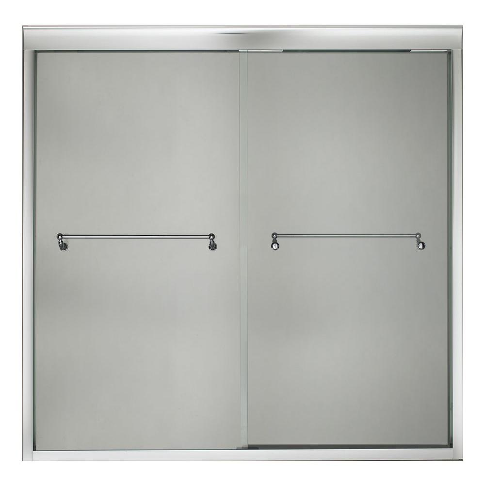 KOHLER Portrait 72 in. x 65 in. Frameless Bypass Shower Door in Bright Polished Silver Finish-DISCONTINUED
