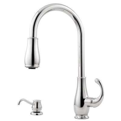 Treviso Single-Handle Pull-Down Sprayer Kitchen Faucet in Polished Chrome
