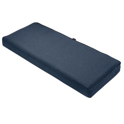 Montlake 59 in. W x 18 in. D x 3 in. Thick Heather Indigo Blue Rectangular Outdoor Bench Cushion
