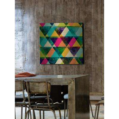 """48 in. H x 48 in. W """"The Greener Stain"""" by Marmont Hill Printed Brushed Aluminum Wall Art"""
