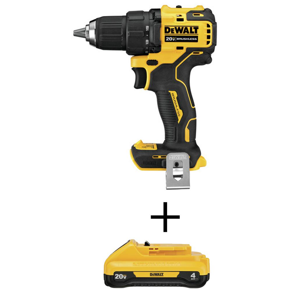 DEWALT ATOMIC 20-Volt MAX Brushless Cordless 1/2 in. Drill/Driver (Tool-Only) with Bonus 20-Volt MAX Li-Ion 4.0 Ah Battery was $239.0 now $139.0 (42.0% off)