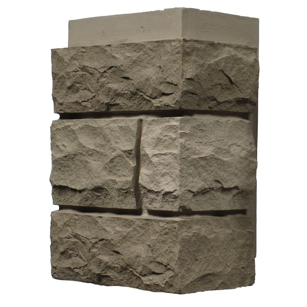 Random Rock Tri Buff 11 in. x 7 in. Faux Stone Siding Corner (4-Pack)