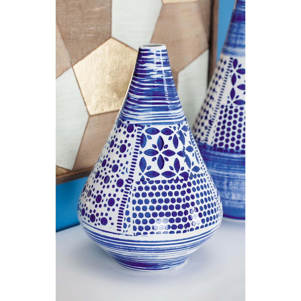 Oriental Blue And White Decorative Vase