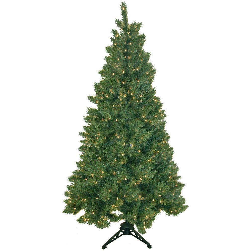 general foam 6 5 ft pre lit half artificial christmas tree with clear lights hd ht65c20 the. Black Bedroom Furniture Sets. Home Design Ideas