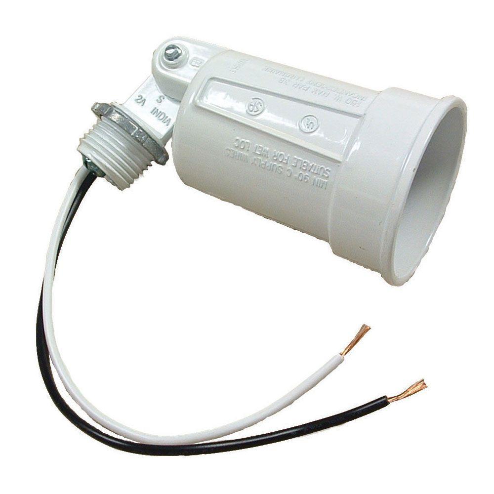 White Outdoor Flood Light Lampholder-5606-1