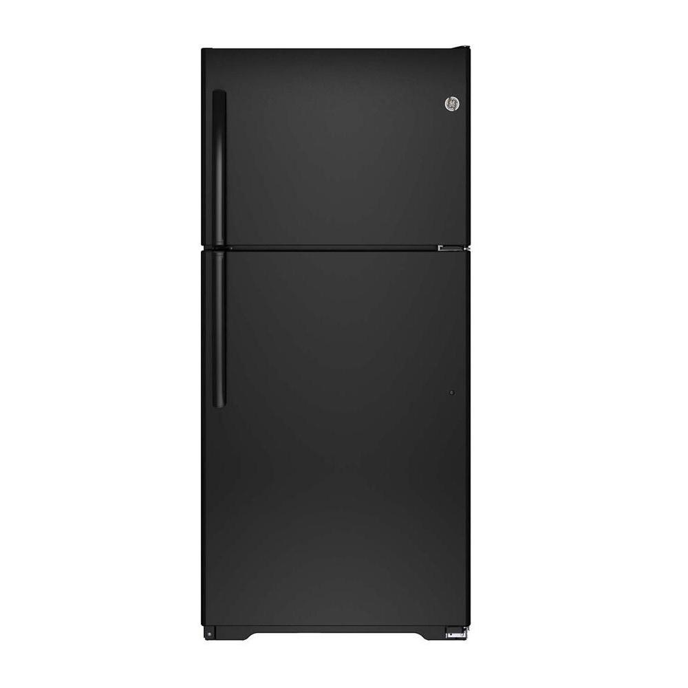 black ge top freezer refrigerators gie18ethbb 64_1000 ge 18 2 cu ft top freezer refrigerator in black gie18ethbb the Frigidaire Refrigerator Wiring Diagram at soozxer.org