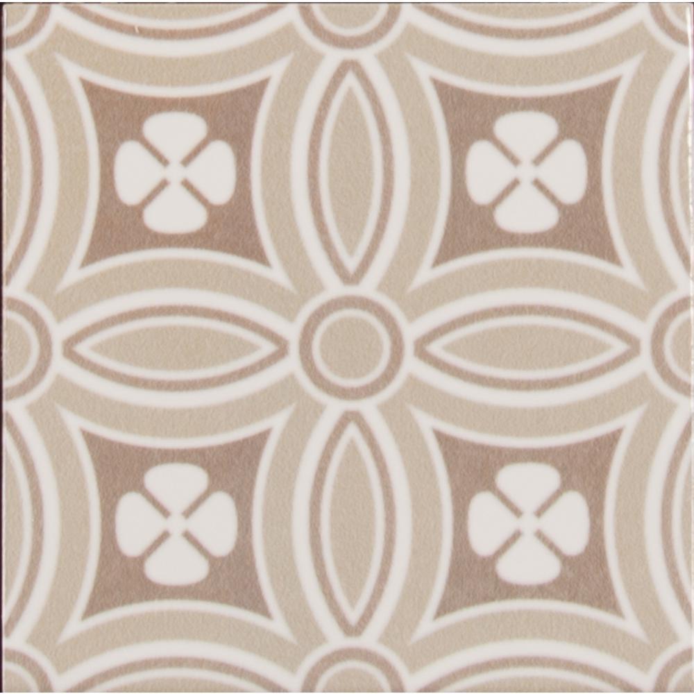 Maya Encaustic Pattern 5 in. x 5 in. Glazed Ceramic Wall Tile (10.70 sq. ft. / case)