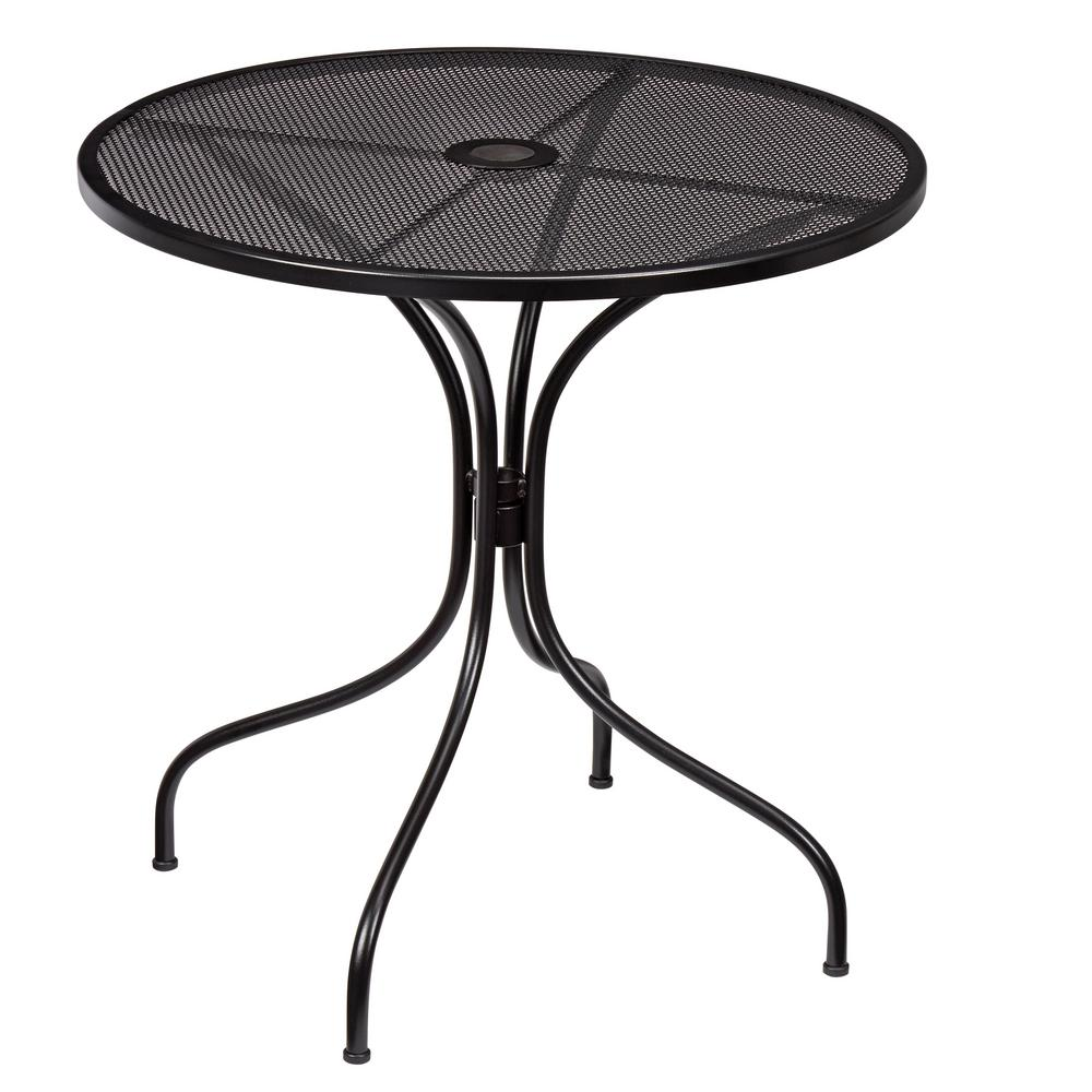 Hampton Bay Nantucket Round Metal Outdoor Bistro Table