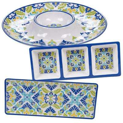 Martinique 3-Piece Melanine Hostess Set