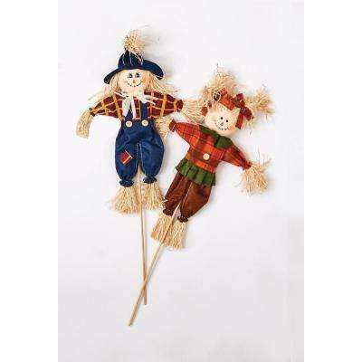 15 in. Scarecrow on 9 in. Pick (Set-6)