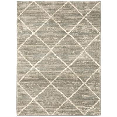 Luciana Gray 4 ft. x 6 ft. Geometric Area Rug