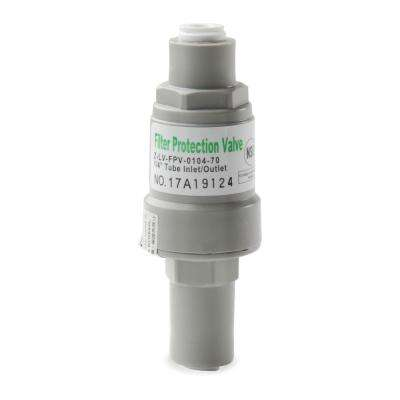 Pressure Regulator and Protection Valve for Water Filters, 1/4- in. Quick Connect, Max 70 psi