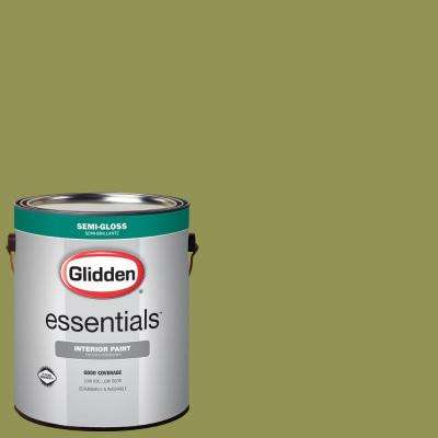 1 gal. #HDGG21D Olive Country Semi-Gloss Interior Paint