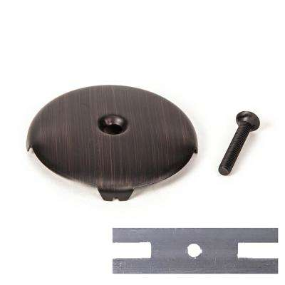 Universal Bath Tub Drain 1-Hole Overflow Face Plate with Matching Screw Includes Adapter to Fit 2 Hole