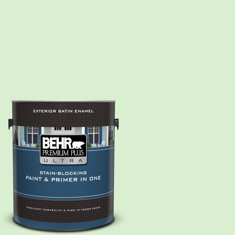1 gal. #430A-2 Seafoam Spray Satin Enamel Exterior Paint and Primer