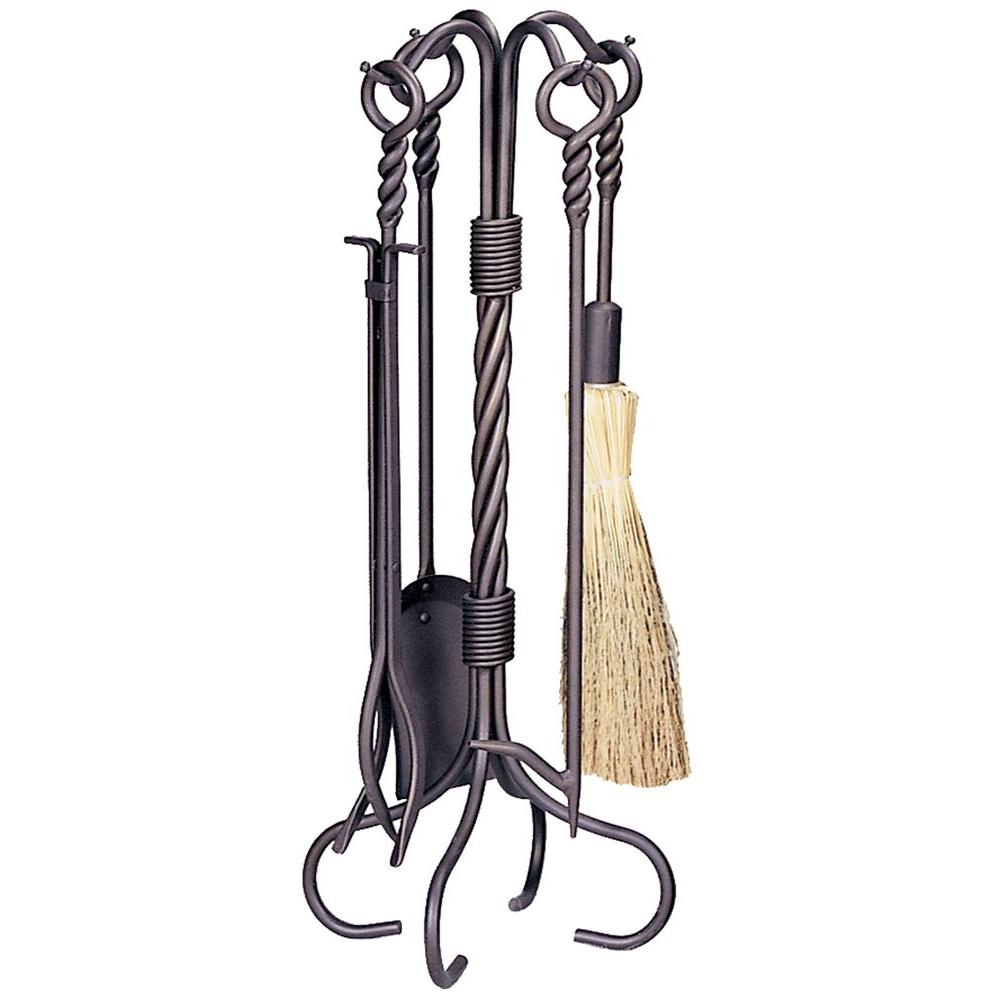 Uniflame 5 Piece Fireplace Toolset In Bronze