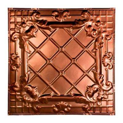Toledo 2 ft. x 2 ft. Nail-up Tin Ceiling Tile in Vintage Bronze