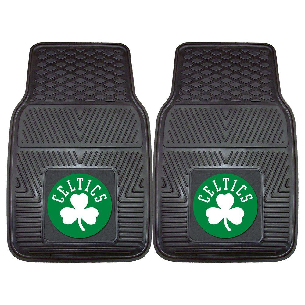 Boston Celtics 18 In. X 27 In. 2 Piece Heavy Duty Vinyl Car Mat, Black